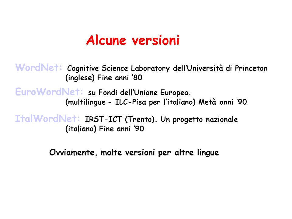 Structural Ontology (2) Definizione della relazione inverse (asserted StructuralOntology (instance inverse BinaryPredicate)) (asserted StructuralOntology (instance inverse SymmetricRelation)) (asserted StructuralOntology (domain inverse 1 BinaryRelation)) (asserted StructuralOntology (domain inverse 2 BinaryRelation)) (asserted StructuralOntology (=> (and (inverse ?R1 ?R2) (instance ?R1 BinaryRelation) (instance ?R2 BinaryRelation)) (forall (?X1 ?X2) ( (holds ?R1 ?X.