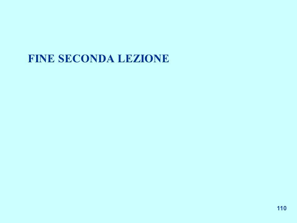 110 FINE SECONDA LEZIONE