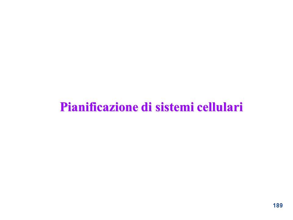 189 Pianificazione di sistemi cellulari