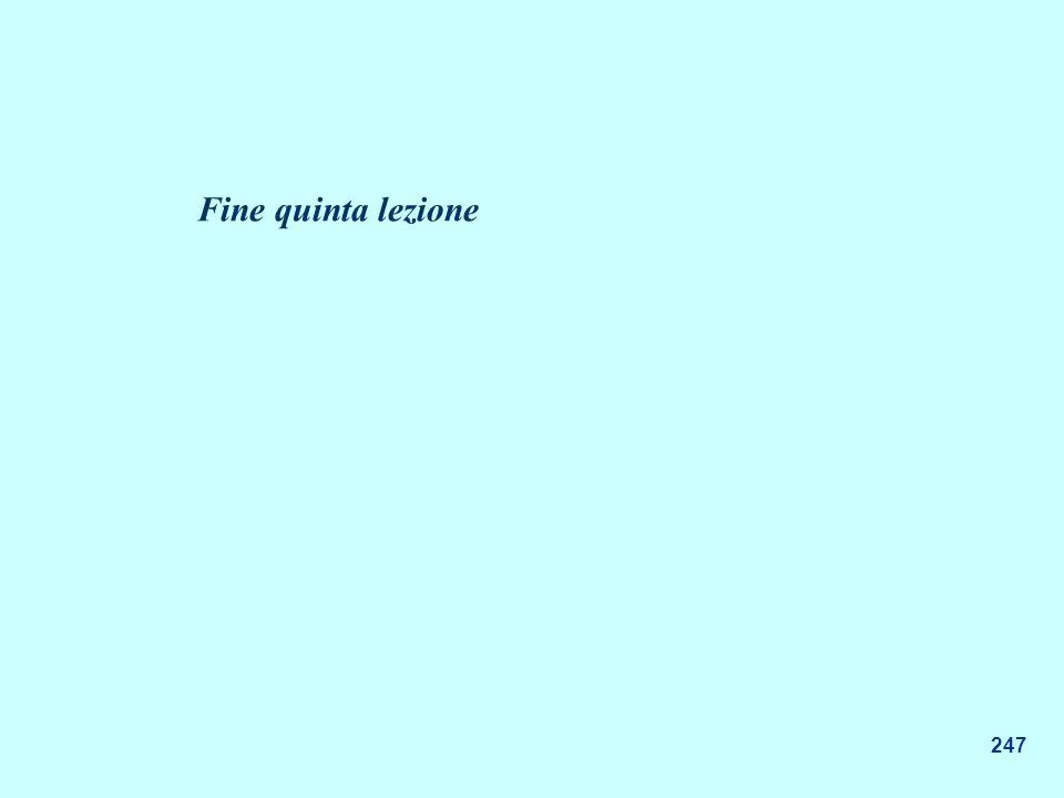 247 Fine quinta lezione