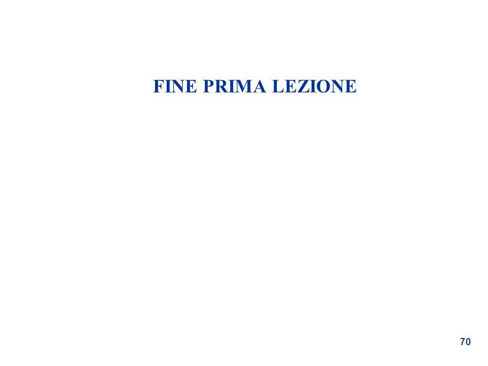 70 FINE PRIMA LEZIONE