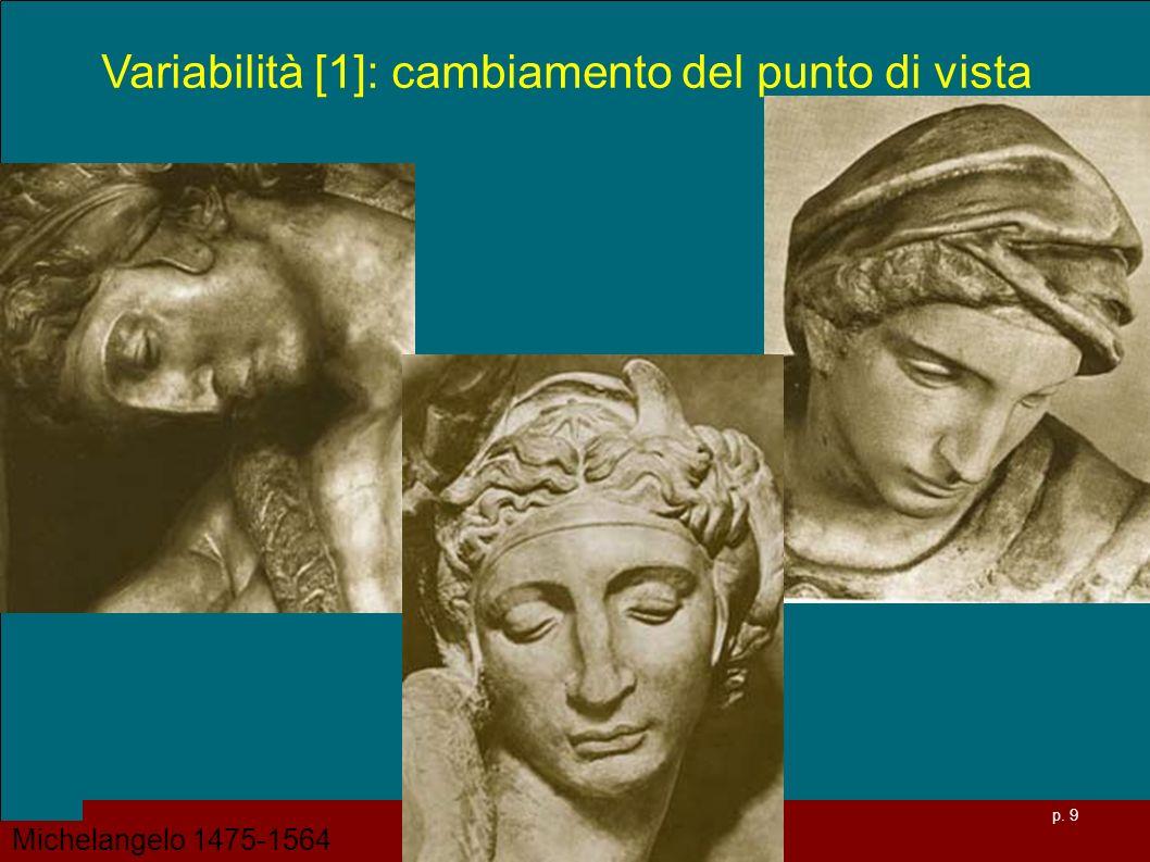 p. 9 Variabilità [1]: cambiamento del punto di vista Michelangelo 1475-1564