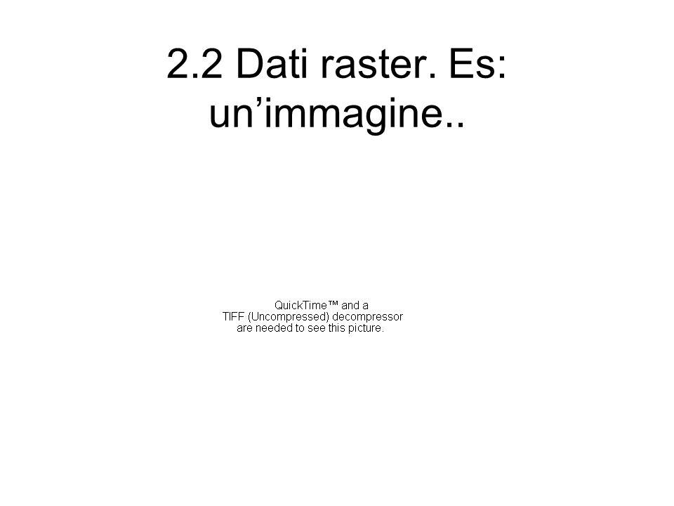 2.2 Dati raster. Es: unimmagine..