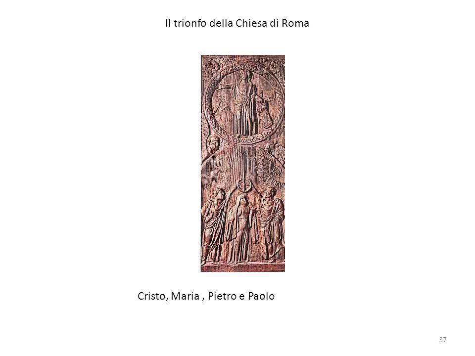 Il trionfo della Chiesa di Roma Cristo, Maria, Pietro e Paolo 37