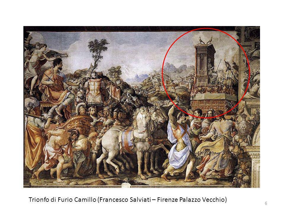 Trionfo di Furio Camillo (Francesco Salviati – Firenze Palazzo Vecchio) 6