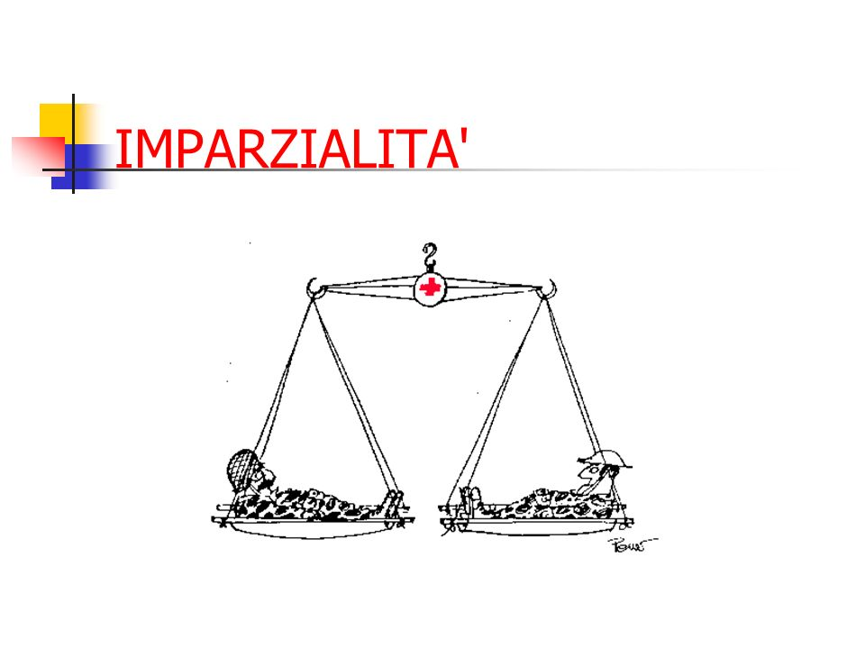 IL MOVIMENTO DI CROCE ROSSA E MEZZA LUNA ROSSA … è universale… I principi sono accettati da tutto il mondo.