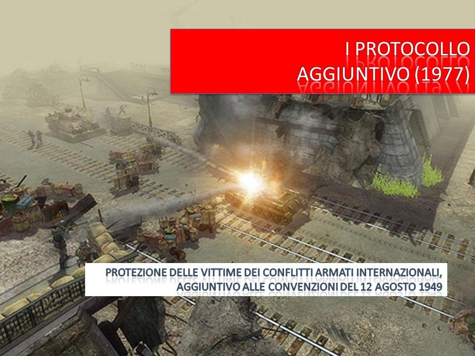1.Campo di applicazione conflitti armati internazionali NOVITA 2.