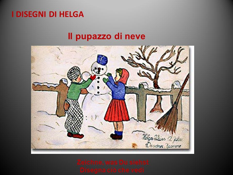 Zeichne, was Du siehst Disegna ciò che vedi Il pupazzo di neve I DISEGNI DI HELGA