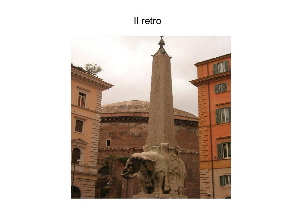 La cupola con le orecchie dasino --bellissima litografia del 1870 dove si può ammirare piazza della Rotonda e il Pantheon, ancora adornato con i due campanili gemelli che Urbano VIII commissionò al Bernini e che i romani battezzarono le orecchie d asino : furono demoliti nel 1883.