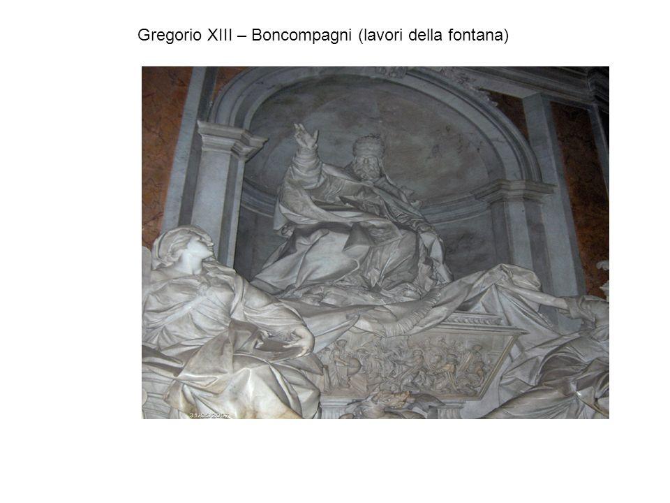 Gregorio XIII – Boncompagni (lavori della fontana)