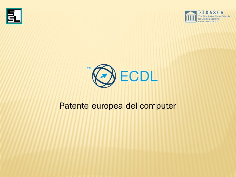 La capacità di usare il computer è un requisito indispensabile per trovare lavoro e migliorare la propria posizione professionale ma abilità ed esperienza nelluso del computer non bastano bisogna misurare la propria preparazione e poterla certificare La patente europea del computer