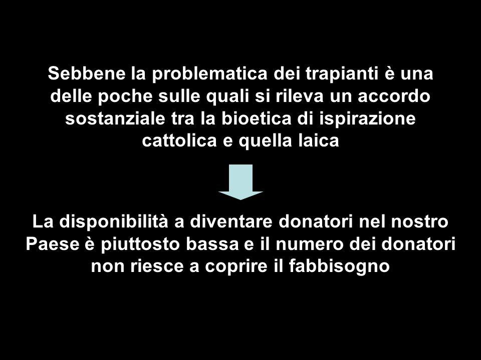Senza pregiudicare i beni del donatore, primo tra tutti quello della vita, la nozione di morte cerebrale consente dunque il prelievo di organi irrorati, come tali idonei all uso terapeutico.