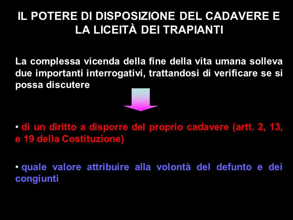 Legge 1 aprile 1999 n° 91 Disposizioni in materia di prelievi e di trapianti di organi e di tessuti Art.