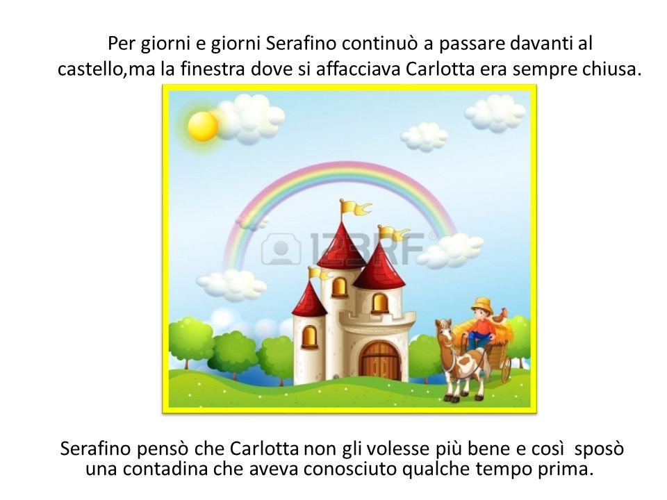 Per giorni e giorni Serafino continuò a passare davanti al castello,ma la finestra dove si affacciava Carlotta era sempre chiusa. Serafino pensò che C
