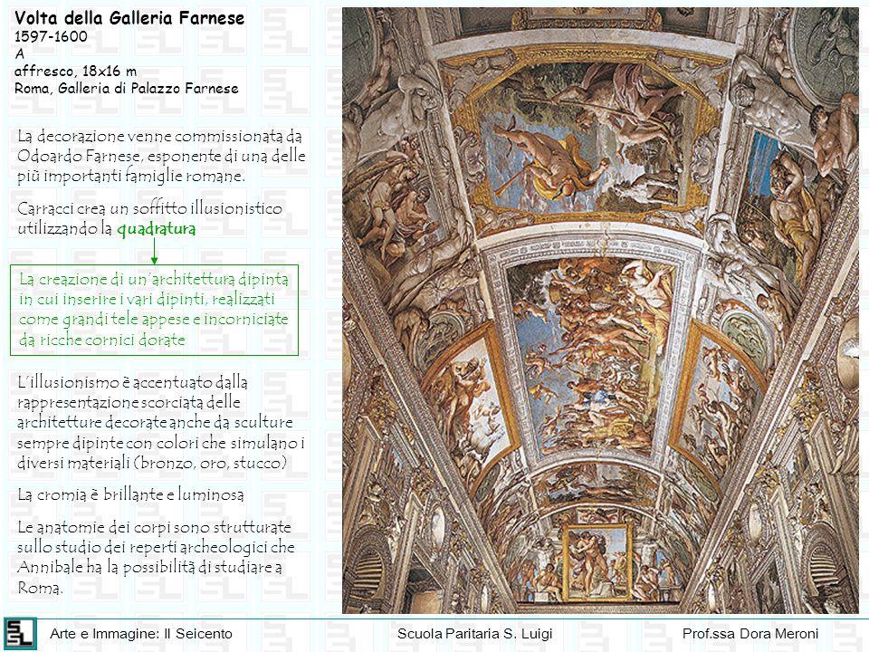 Arte e Immagine: Il SeicentoScuola Paritaria S. LuigiProf.ssa Dora Meroni Volta della Galleria Farnese 1597-1600 A affresco, 18x16 m Roma, Galleria di