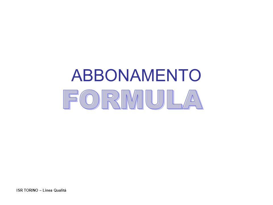 ISR TORINO – Linea Qualità VALIDITA ABB.SETTIMANALE ABB.