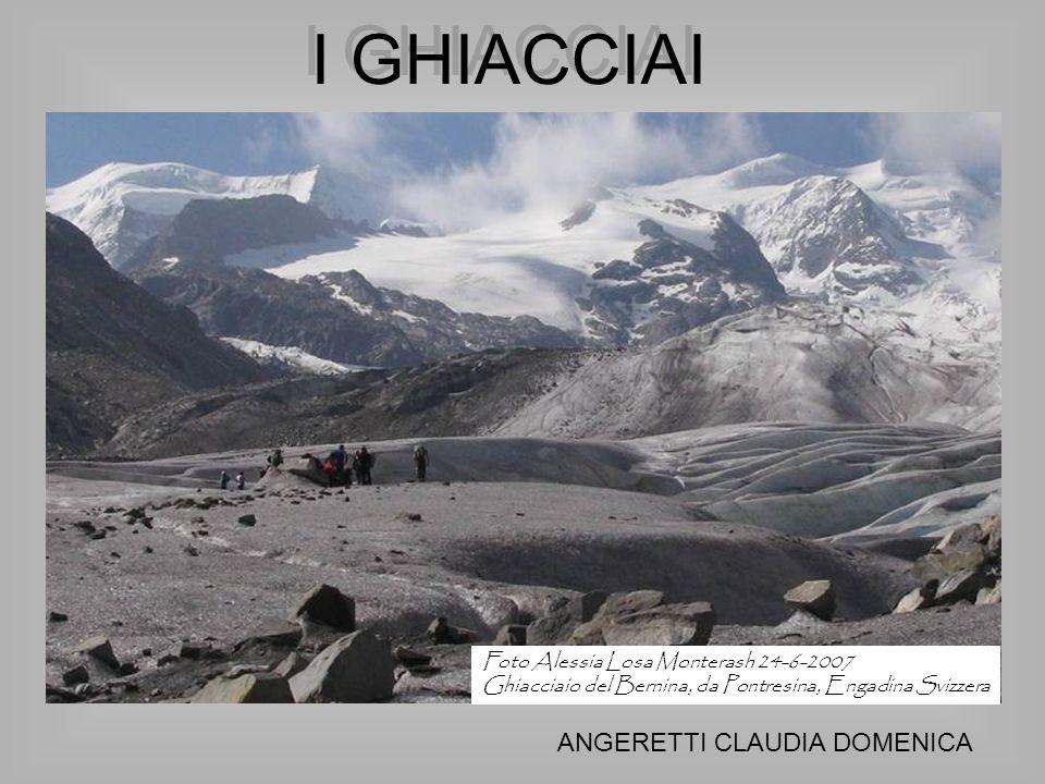 I GHIACCIAI ANGERETTI CLAUDIA DOMENICA Foto Alessia Losa Monterash 24-6-2007 Ghiacciaio del Bernina, da Pontresina, Engadina Svizzera