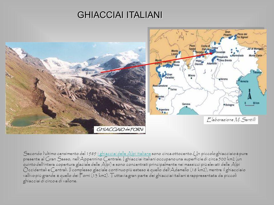 GHIACCIAIO dei FORNi Secondo lultimo censimento del 1989 i ghiacciai delle Alpi italiane sono circa ottocento. Un piccolo ghiacciaio è pure presente a