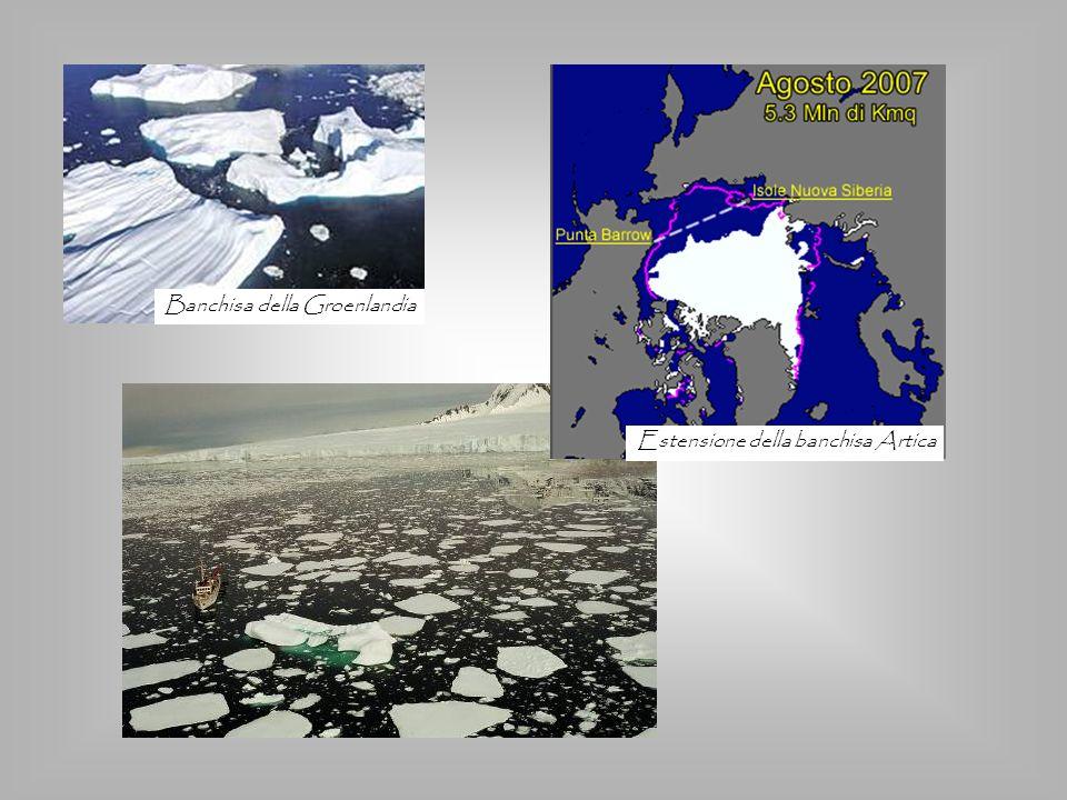 Estensione della banchisa Artica Banchisa della Groenlandia