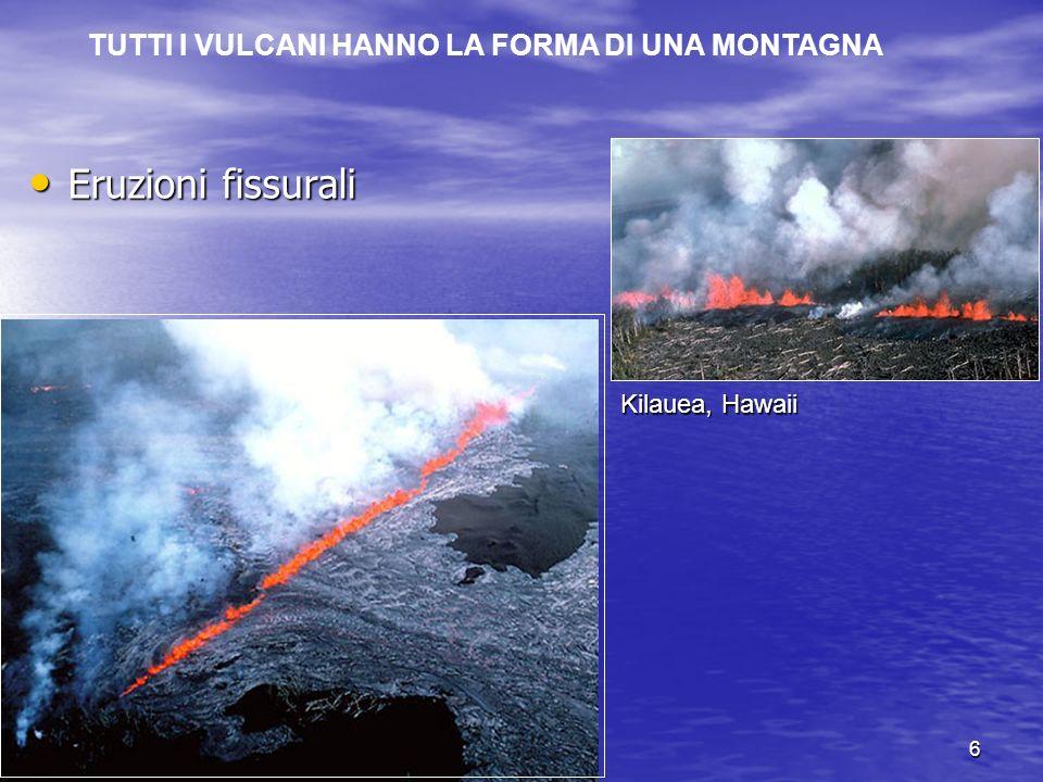 23.10.20036 Kilauea, Hawaii Eruzione fissurale Eruzioni fissurali Eruzioni fissurali TUTTI I VULCANI HANNO LA FORMA DI UNA MONTAGNA
