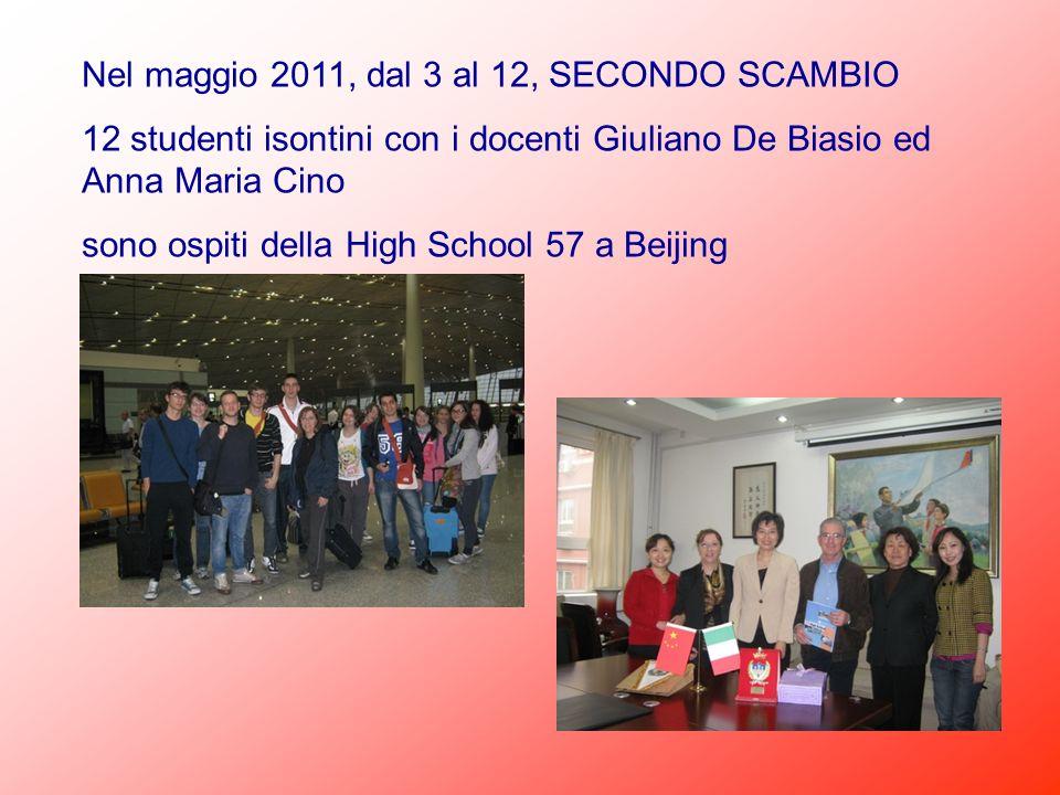 Nel maggio 2011, dal 3 al 12, SECONDO SCAMBIO 12 studenti isontini con i docenti Giuliano De Biasio ed Anna Maria Cino sono ospiti della High School 5