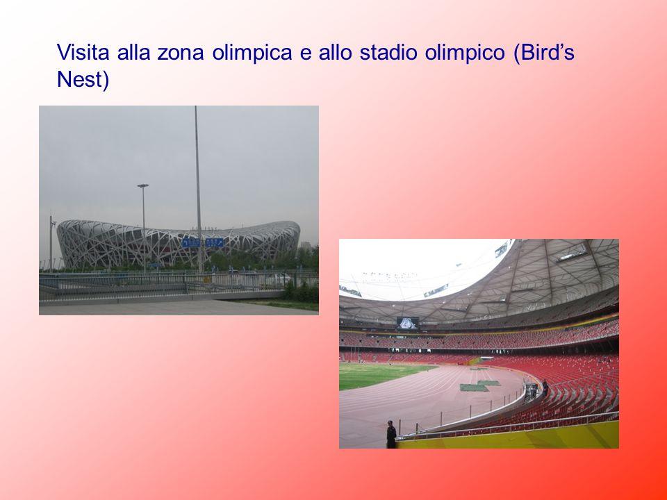 Visita alla zona olimpica e allo stadio olimpico (Birds Nest)