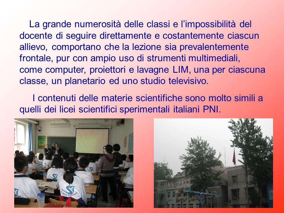 La grande numerosità delle classi e limpossibilità del docente di seguire direttamente e costantemente ciascun allievo, comportano che la lezione sia