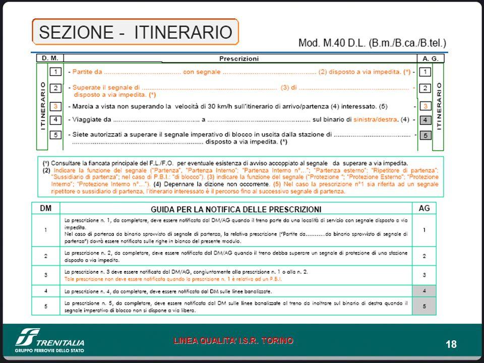 18 LINEA QUALITA I.S.R. TORINO
