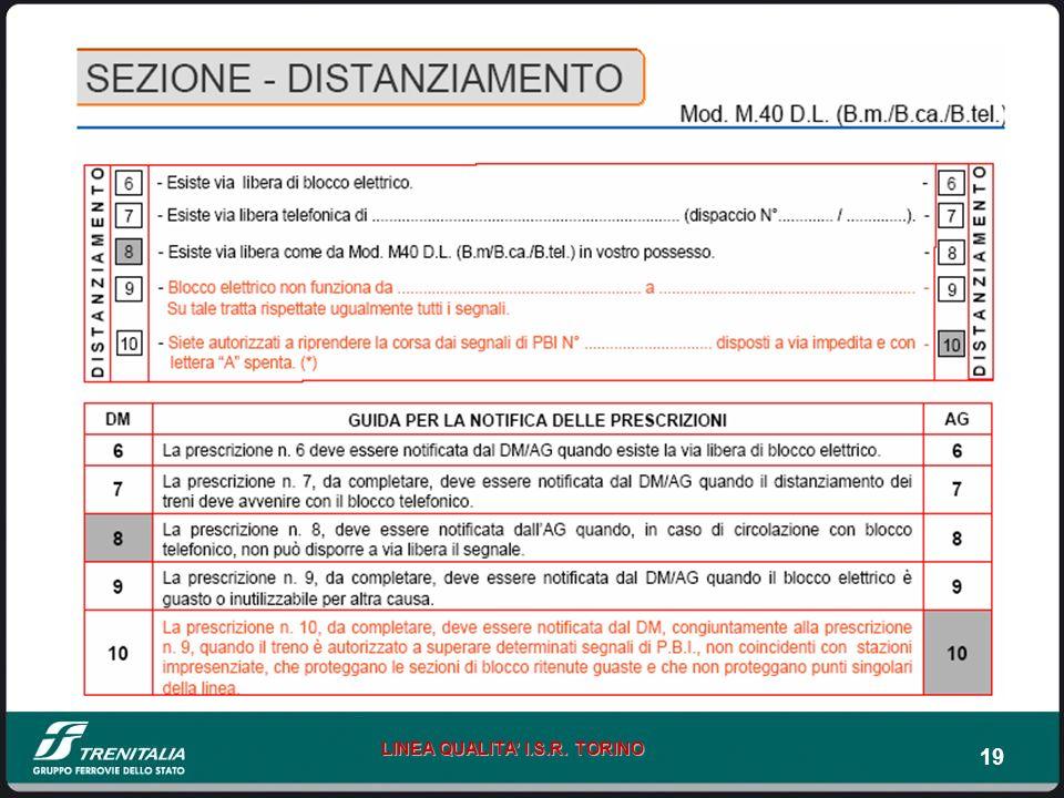 19 LINEA QUALITA I.S.R. TORINO