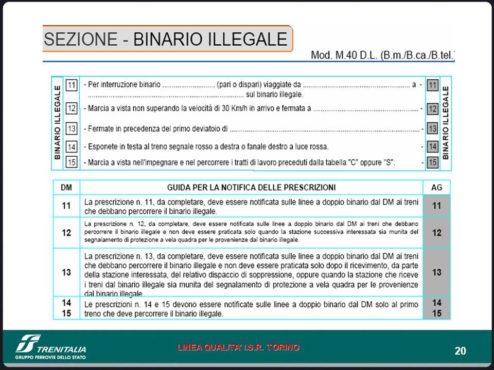 20 LINEA QUALITA I.S.R. TORINO