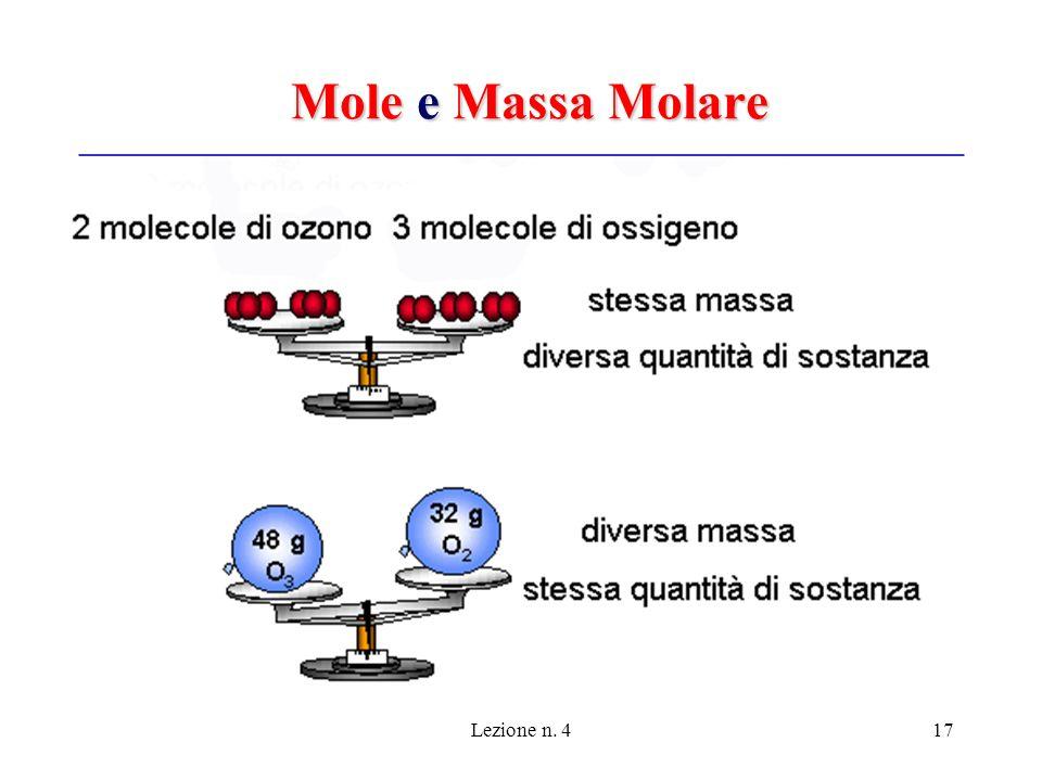 Lezione n. 417 Mole e Massa Molare