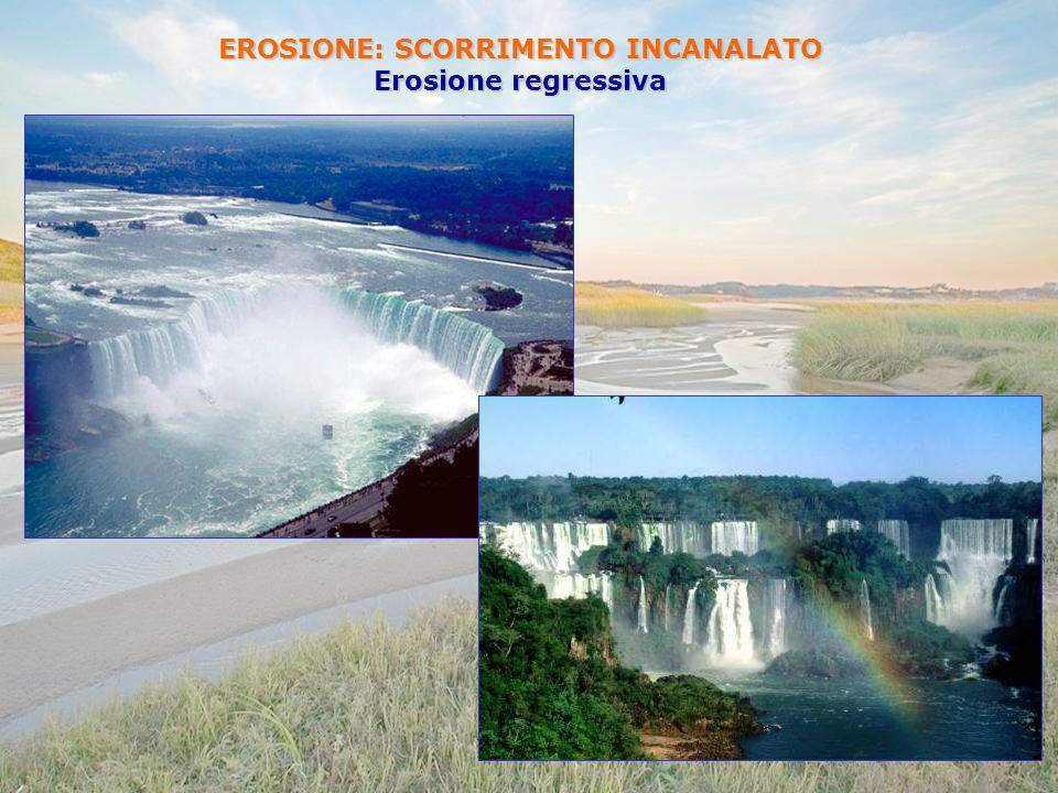 EROSIONE: SCORRIMENTO INCANALATO Erosione regressiva