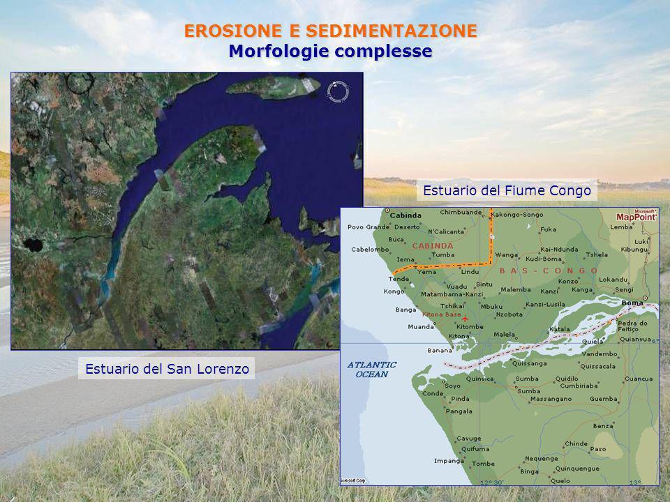 EROSIONE E SEDIMENTAZIONE Morfologie complesse Estuario del San Lorenzo Estuario del Fiume Congo