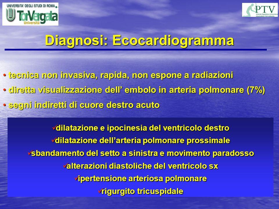Diagnosi: Ecocardiogramma tecnica non invasiva, rapida, non espone a radiazioni tecnica non invasiva, rapida, non espone a radiazioni diretta visualiz