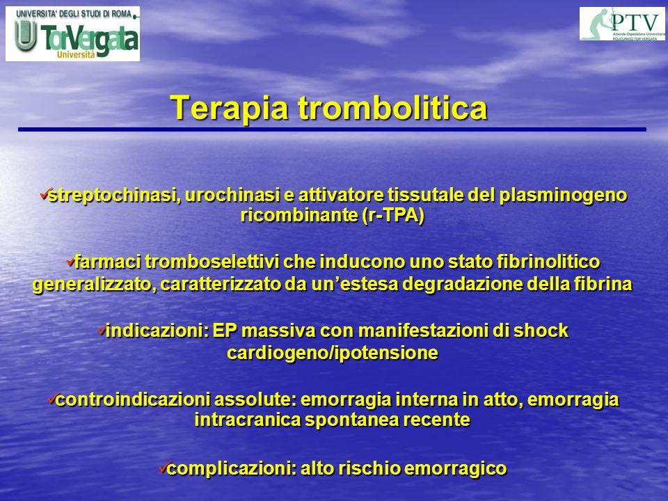 Terapia trombolitica streptochinasi, urochinasi e attivatore tissutale del plasminogeno ricombinante (r-TPA) streptochinasi, urochinasi e attivatore t