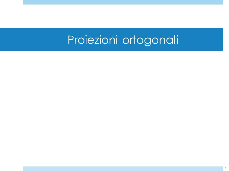 1 Proiezioni ortogonali