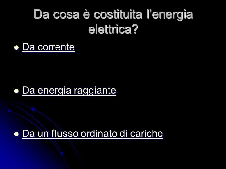 Da cosa è costituita lenergia elettrica.