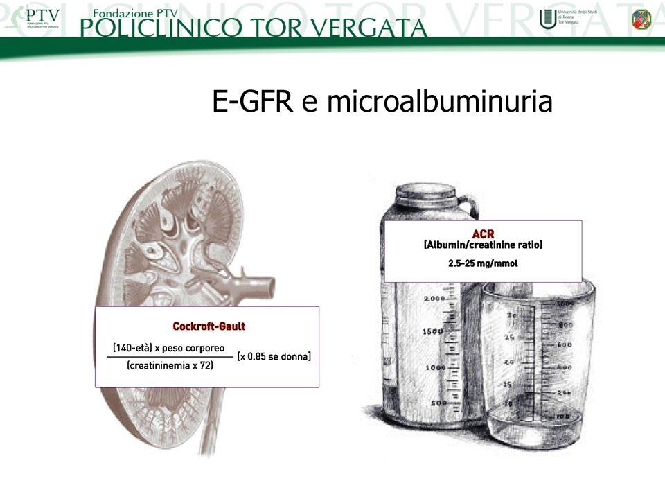 E-GFR e microalbuminuria