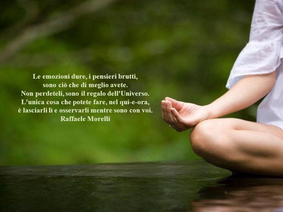 Le emozioni dure, i pensieri brutti, sono ciò che di meglio avete.