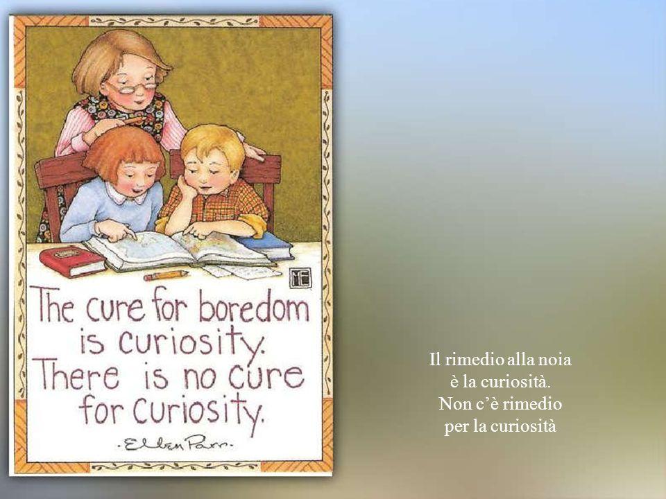 Il rimedio alla noia è la curiosità. Non cè rimedio per la curiosità