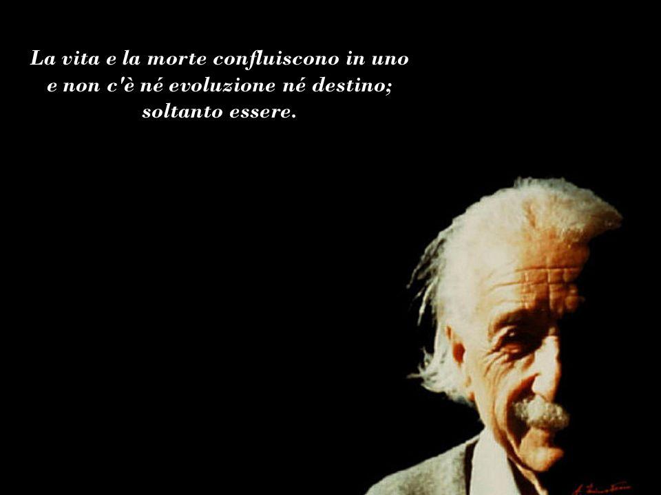 La vita e la morte confluiscono in uno e non c è né evoluzione né destino; soltanto essere.