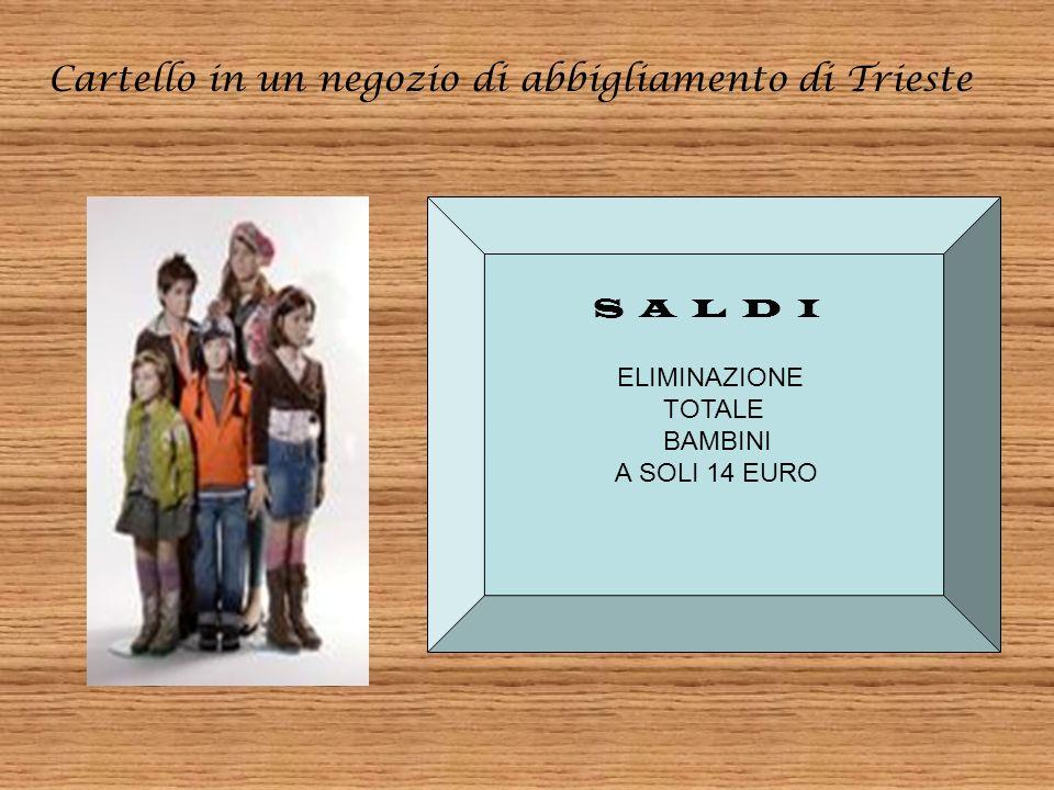 Cartello in un negozio di mangimi in Toscana TUTTO, VERAMENTE TUTTO, PER IL VOSTRO UCCELLO