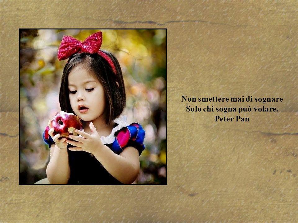 Non smettere mai di sognare Solo chi sogna può volare. Peter Pan