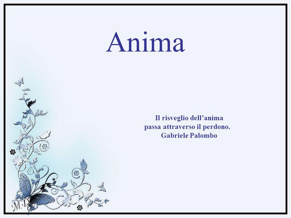 Anima Il risveglio dellanima passa attraverso il perdono. Gabriele Palombo