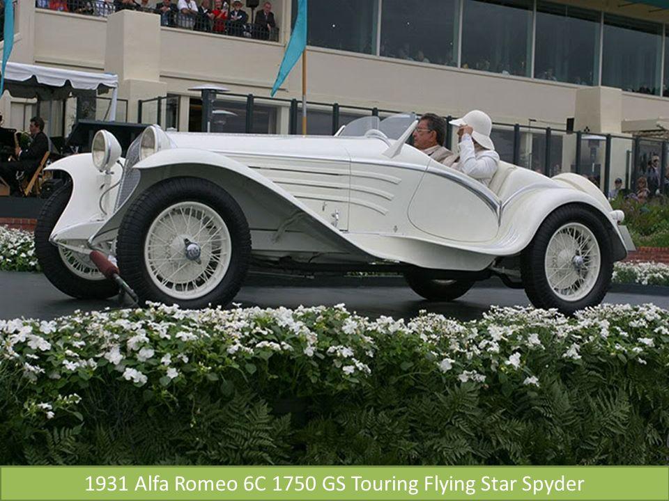 1931 Alfa Romeo 6C 1750 GS Touring Flying Star Spyder