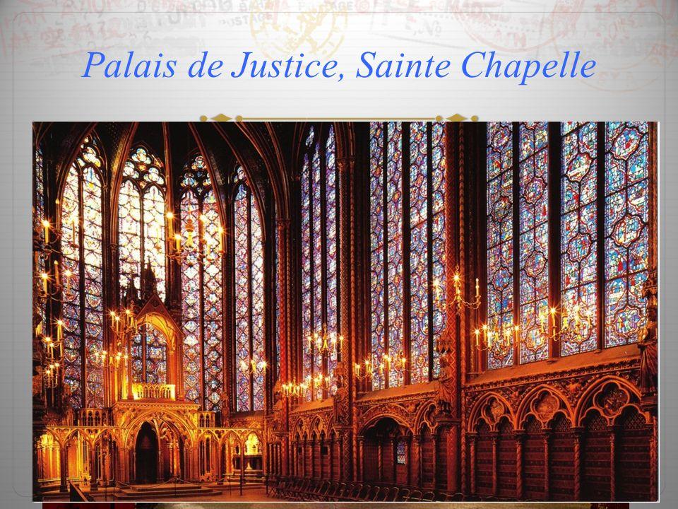 Palais de Justice, Sainte Chapelle