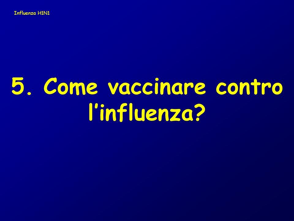 5. Come vaccinare contro linfluenza? Influenza H1N1