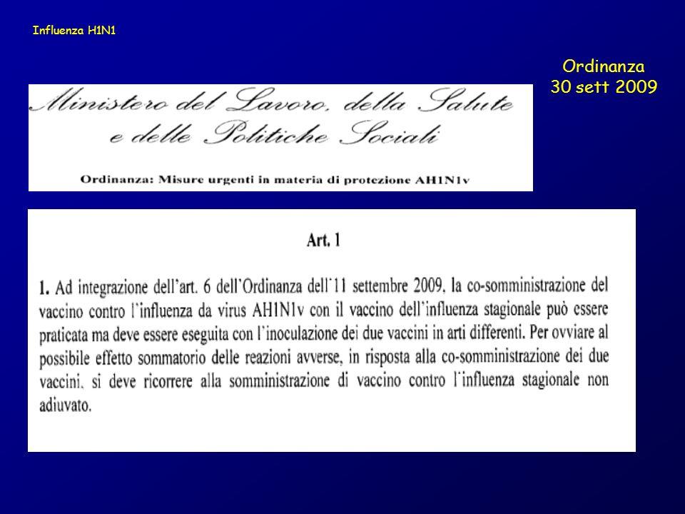 Ordinanza 30 sett 2009 Influenza H1N1