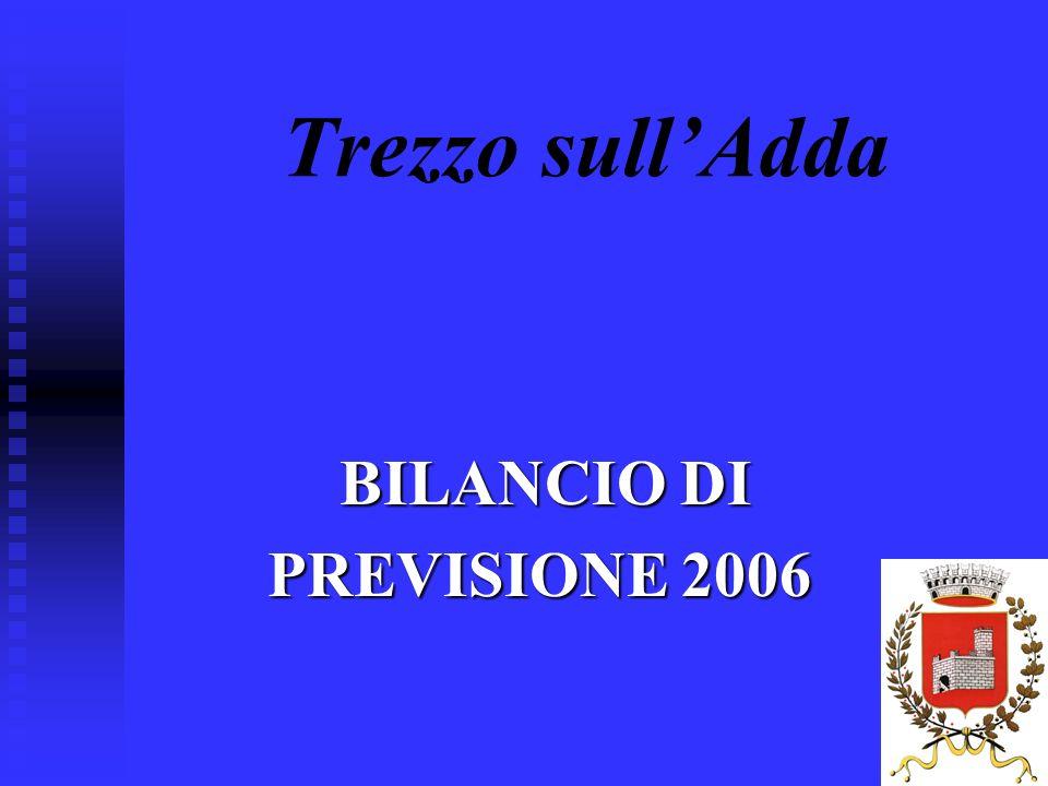 1 Trezzo sullAdda BILANCIO DI BILANCIO DI PREVISIONE 2006 PREVISIONE 2006