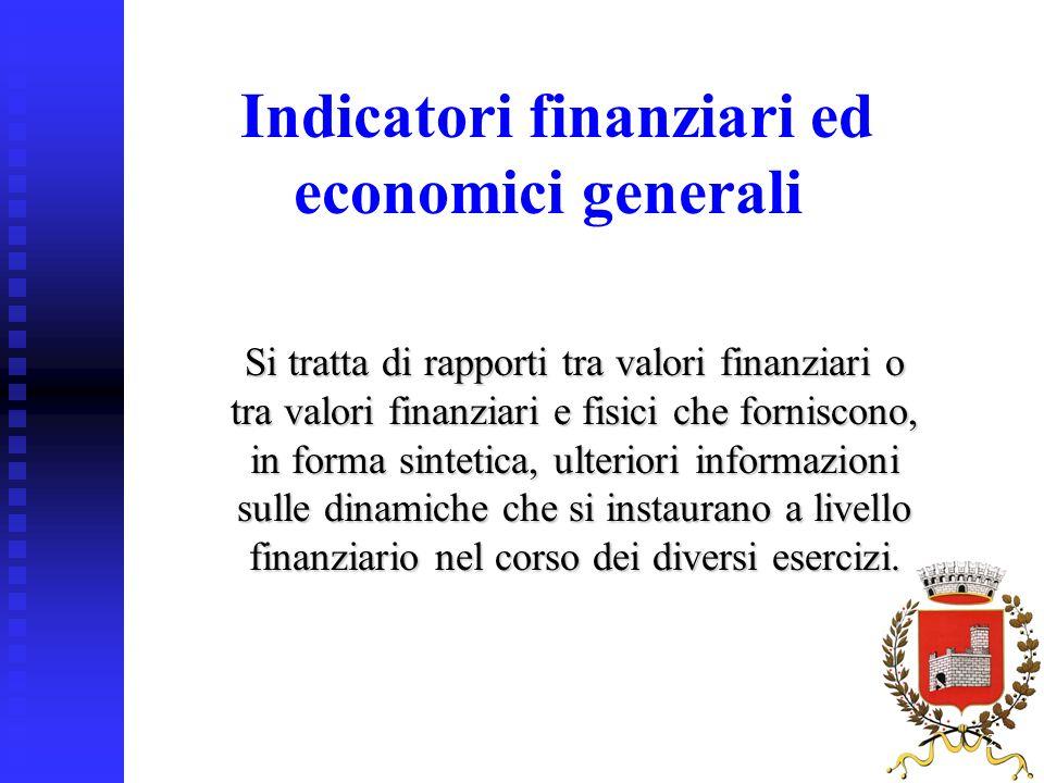 27 Si tratta di rapporti tra valori finanziari o tra valori finanziari e fisici che forniscono, in forma sintetica, ulteriori informazioni sulle dinam